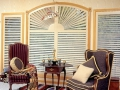 Custom Plantation Shutters for Arched Window